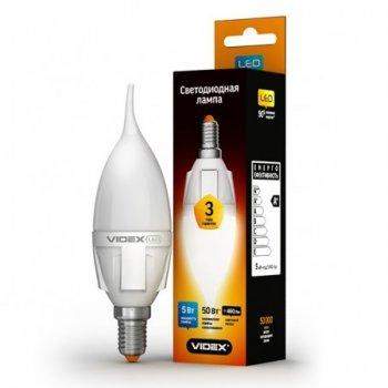 Лампа світлодіодна LED VIDEX C37t 5W E14 3000K 220V (VL-C37t-05143)