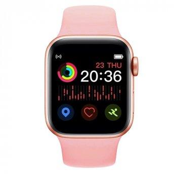 Смарт Годинник Smart Watch T500 Plus Фітнес браслет Голосовий виклик Pink
