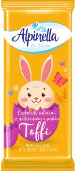 Упаковка шоколада Alpinella Easter Тоффи 100 г х 22 шт (5900915020474)
