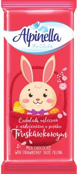 Упаковка шоколада Alpinella Easter Клубника 100 г х 22 шт (5900915020450)