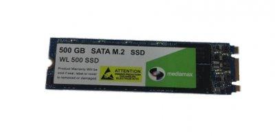 Накопитель SSD 500GB Mediamax M.2 2280 SATAIII 3D NAND TLC (WL 500 SSD M.2) Refurbished наработка до 1%