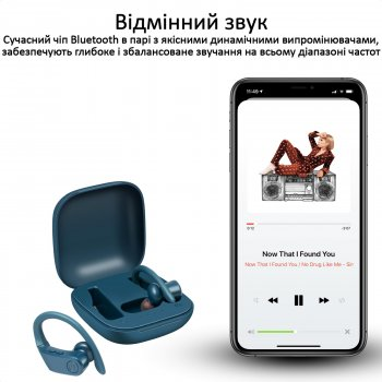 Спортивные TWS наушники Promate Motive Bluetooth 5 Blue (motive.blue)