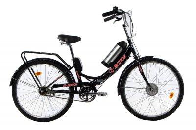 Электровелосипед складной E-motion с низкой рамой 36V 10Ah 350W черно-красный (21NCHK)