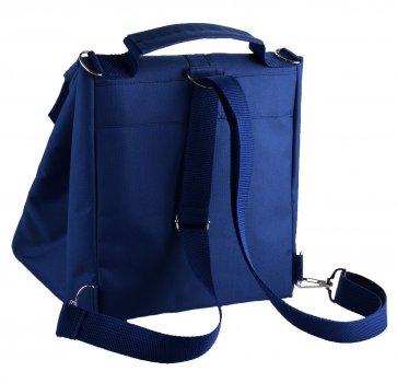 Термо сумка - рюкзак Dolphin Ланч бег з вишивкою My lunch 19х25х26 см 7 л Темно — синій