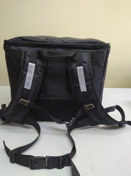 Каркасная термосумка - рюкзак для доставки еды и пиццы на молнии. Dolphin 45x30 см Черная