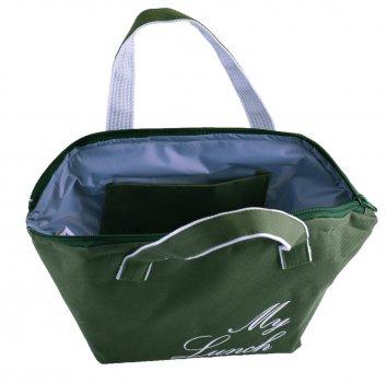 Термо сумка для Dolphin їжі на блискавці з вишивкою My lunch. 17х12х17,5 см 3,2 л Хакі