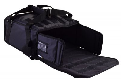 Термосумка на 5-6 коробок 32х32 см для кур'єрської доставки піци. Чорна 33х33х27 см 50 л Dolphin