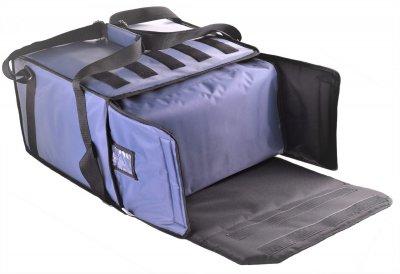 Термосумка з вкладишем на 5-6 коробок 45х45 см для кур'єрської доставки піци. Dolphin Комплект. 47х47х27 см 40 л Сіра
