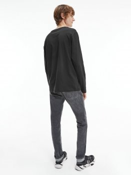 Лонгслів Calvin Klein Jeans Monogram Ls Tee J30J319224-BEH Pvh Black