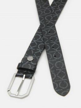 Мужской ремень Calvin Klein Jeans Adj Cut Out Buckle 35Mm Cvmono K50K506510-0GL 95 см Black Mono (8719853533802)