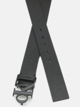 Мужской ремень кожаный Calvin Klein Jeans Mono Plaque Belt 35Mm K50K506548-BDS 95 см Black (8719853625972)