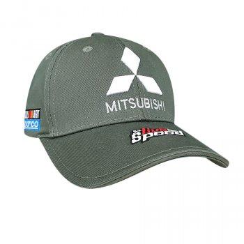 Бейсболка с логотипом авто Митсубиси Sport Line 6742 57-60 цвет зеленый