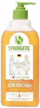 Упаковка средств для мытья посуды и детских игрушек Synergetic с ароматом апельсина 500 мл х 2 шт (4623722258311)