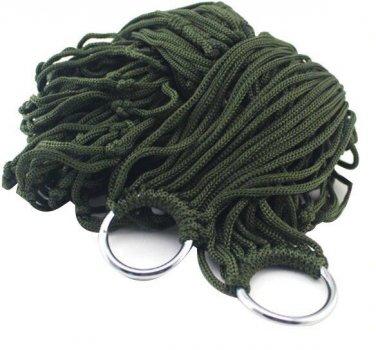 Сітчастий гамак Supretto підвісний на кільцях Зелений (5995-0001)