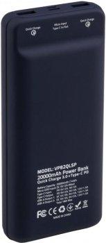 УМБ Vinga QC3.0 Display Soft Touch 20000 mAh Purple (VPB2QLSP)