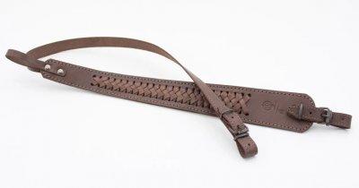 Ремень для ружья трапеция плетеный кожаный (5028/2)