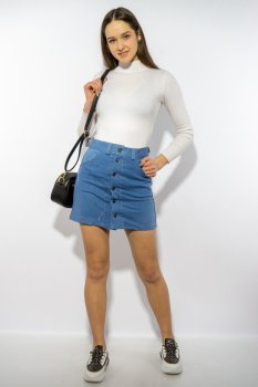 Спідниця джинсова Time of Style 148P004 Блакитний