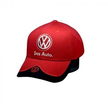 Кепка Sport Line c автомобильным логотипом Volkswagen красная (S 0919-482)