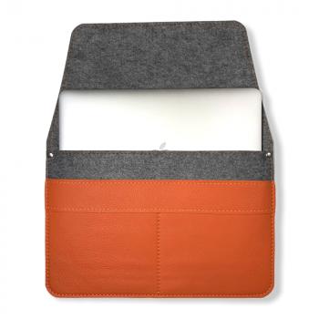 Чохол для ноутбука Empire Leather Craft Універсальний 13.3 - 14.1 inch (N2021-16) Помаранчевий