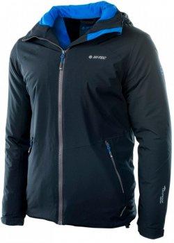 Куртка HI-TEC Saffle-Anthracite/Victoria Blu Чорна із синім