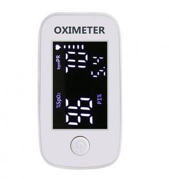Пульсометр оксиметр на палец (пульсоксиметр) Yimi Life YM103 White