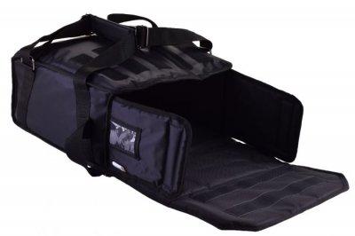 Термо сумка з вкладишем «конверт» для піци Dolphin горизонтального завантаження, на 3-4 коробки 42*42. Чорний