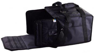 Термо сумка з вкладишем «конверт» для піци Dolphin горизонтального завантаження, на 5-6 коробок 45*45. Чорний