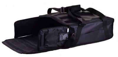 Термо сумка Dolphin для піци горизонтального завантаження на липучках, на 3-4 коробки 42*42. Чорна