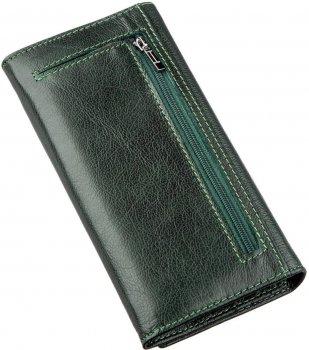 Женский кошелек кожаный ST Leather Accessories 18857 Зеленый