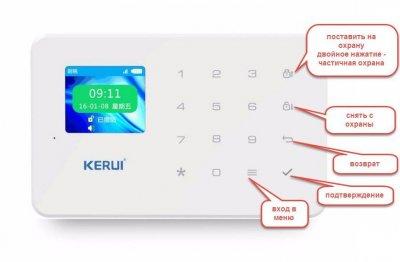 Комплект беспроводной gsm WiFi сигнализации эконом для 1-комнатной квартиры Kerui W18