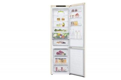 Холодильник LG GW-B509SEJM 203 см, 384 л, А++, Total No Frost, інверта. компресор, внут. дисплеї н., бежевий