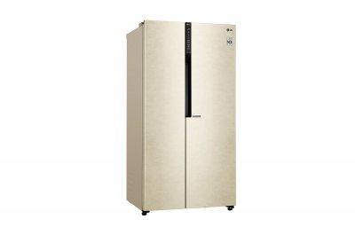 Холодильник LG GC-B247JEDV SbS /179 см/ 613 л/ А+/ Total No Frost/ лінійний компр./ бежевий