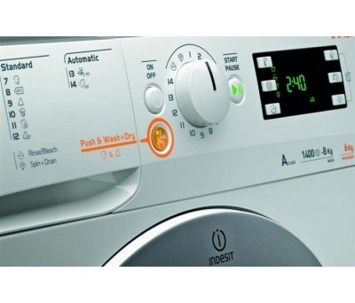 Прально-сушильн.машина Indesit XWDE 1071481XWKKK /10кг прання/7 кг сушка/1400/60 см/Дисплей
