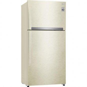 Холодильник LG GR-H802HEHZ c верхньою морозильною камерою/184 см/630 л/ А++/лінійний компр./бежевий