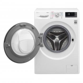Пральна машина LG F2J7HG2W з сушкою/ 7кг(4кг)/1200 в хв/глиб. 45 см/В/прання пором Spa Steam
