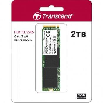 Твердотільний накопичувач SSD Transcend M. 2 NVMe PCIe 3.0 4x 2TB MTE220S 2280