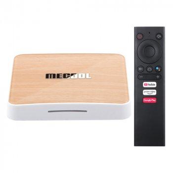 Смарт ТВ Приставка Mecool KM6 4/64 Гб Deluxe Android 10.0 TV Box Amlogic S905X4 1080P Full HD. Ultra HD (4K) Original White-Orange