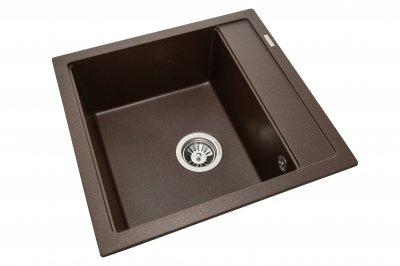 Кухонна мийка Granado Merida Marron (0306) + сифон одинарний для кухонної мийки Nova