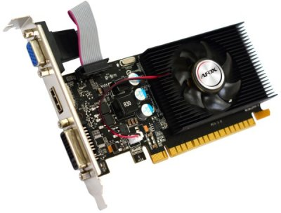 Відеокарта AFOX GeForce GT220, 1Gb DDR3, 128-bit, VGA/DVI/HDMI, 668/1308MHz, Low Profile (AF220-1024D3L2)
