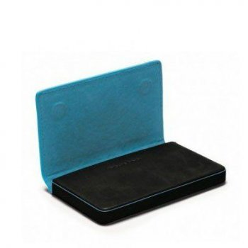 Черная кожаная визитница Piquadro Blue Square (PP1263B2_N)