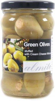 Оливки королевские зеленые Almito фаршированные сыром 270 г (5200311700070)