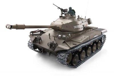Танк на радіокеруванні 1:16 Heng Long Bulldog M41A3 з пневмопушкой та/до боєм (Upgrade)