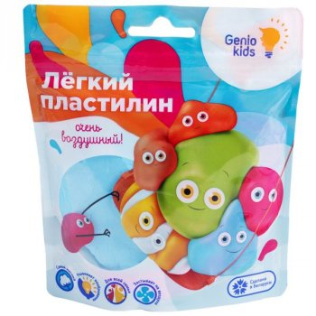 """Лёгкий пластилин"" для детской лепки, синий - GENIO KIDS (TA1712-2)"