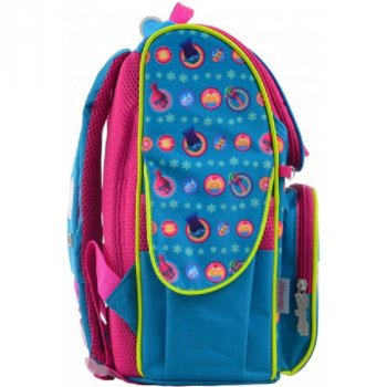 Рюкзак школьный каркасный для девочек 555162 H-11 Trolls turquoise (273039)