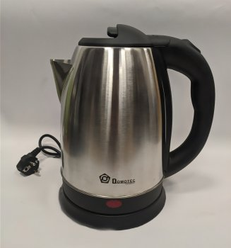Електричний дисковий металевий чайник Domotec 5001 2 літра