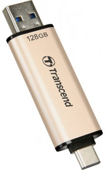 Transcend JetFlash 930C 128GB USB 3.2 / Type-C Gold-Black (TS128GJF930C)