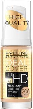 Матирующий тональный крем Eveline Ideal Cover Full SPF10 206 – Beige 30 мл (5901761915716)