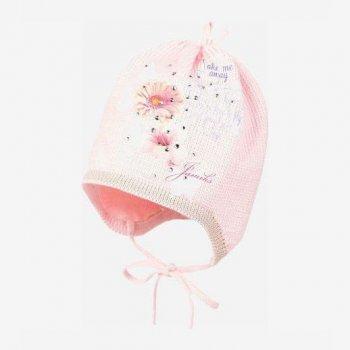 Демисезонная шапка с завязками Jamiks Feline 50 см Розовая (59030360980129)