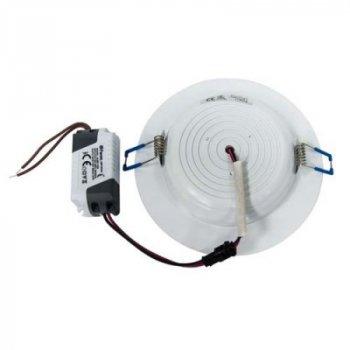 """LED панель 7W 380LM 4500K коло біла """"LEMANSO"""" LM453"""