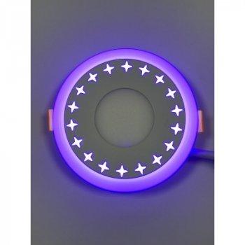 """LED панель """"Зірки"""" 3+3W з синім підсвічуванням 350Lm 4500K 85-265V коло """"LEMANSO"""" LM535"""